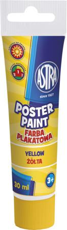 Farba plakatowa w tubce żółta 30ml Astra