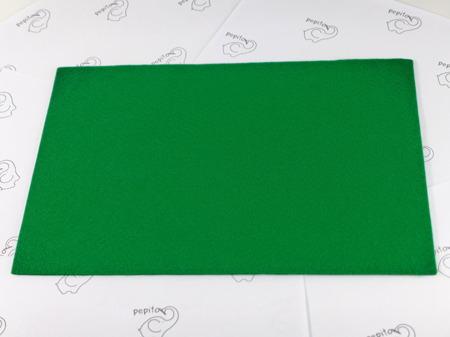 Filc samoprzylepny zielony A4