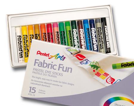 Pastele do tkanin 15 kolorów Pentel