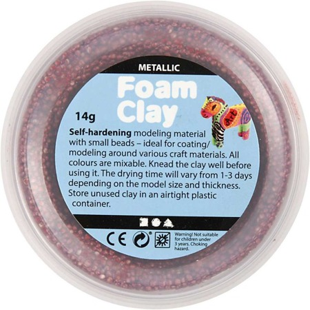 Pianka do modelowania Foam Clay zestaw 6x14g kolory metaliczne