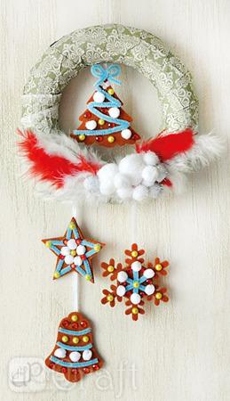 Świąteczne pierniczki zawieszki na choinkę z filcu dp Craft